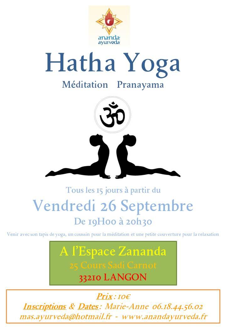 Hatha Yoga, Méditation & Pranayama