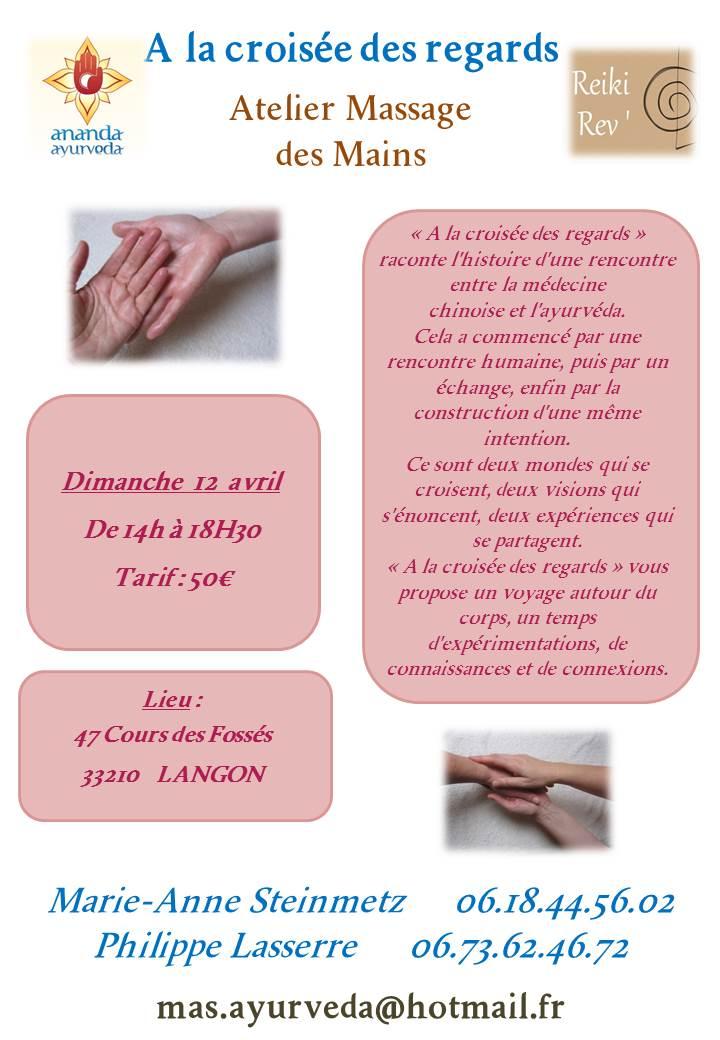 Atelier massage des Mains