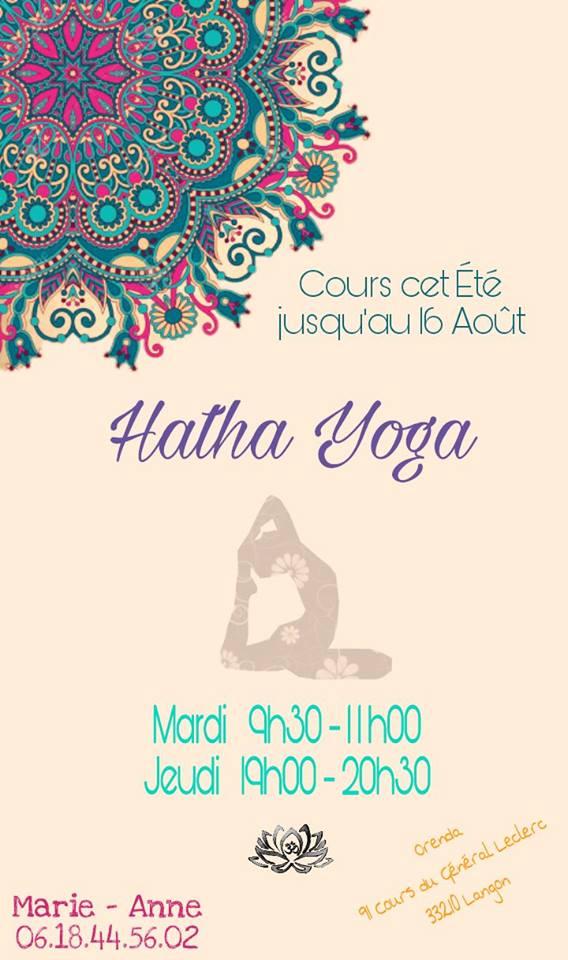 Hatha Yoga Eté 2018